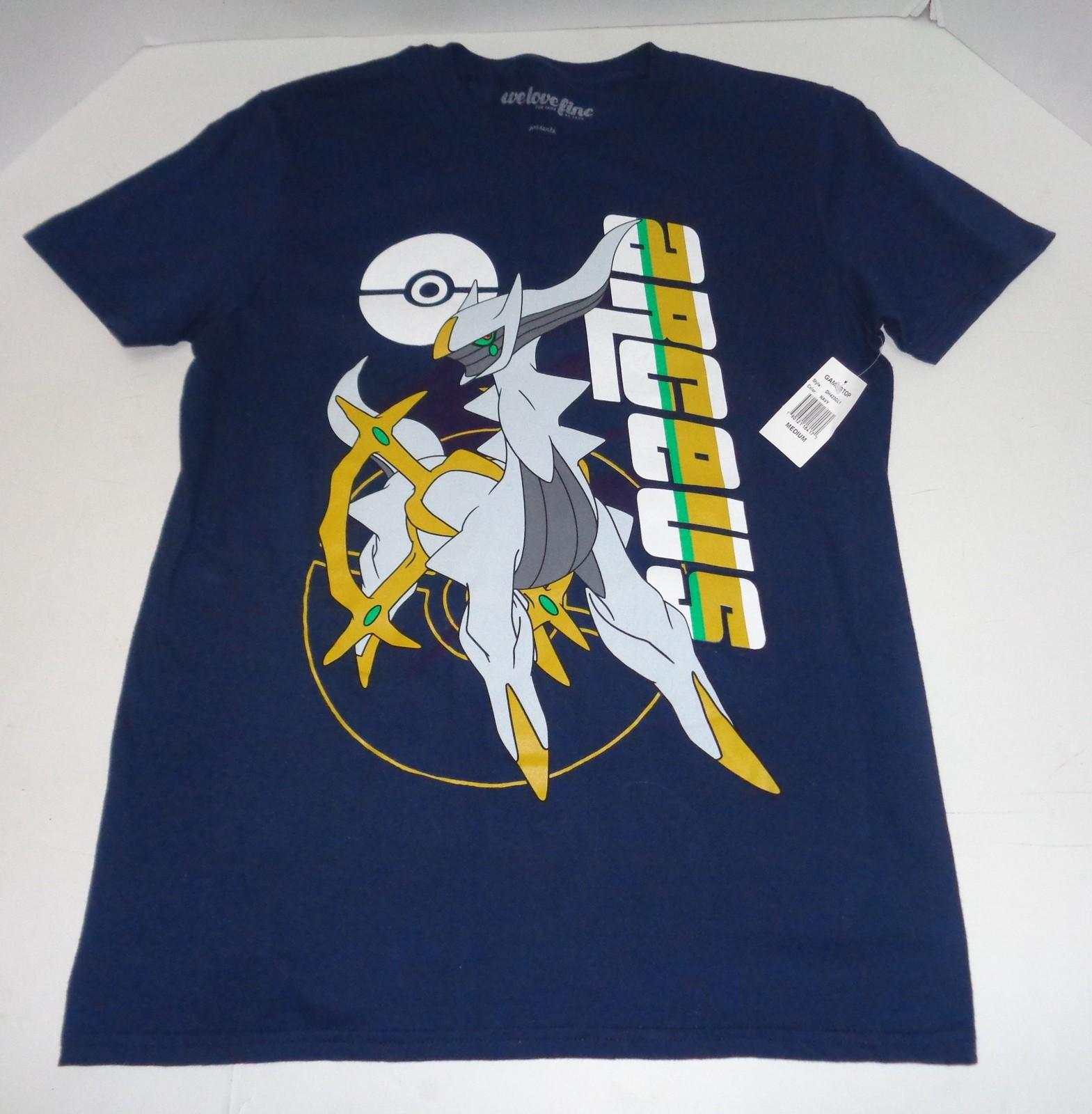 Pokemon Arseus Game Stop T-Shirt NWT Navy Blue SZ Medium