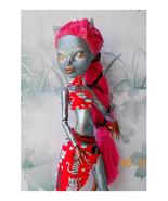 Monster High Repaint OOAK Catty Noir, Painted Cat Art Doll, Custom Paint - $55.00
