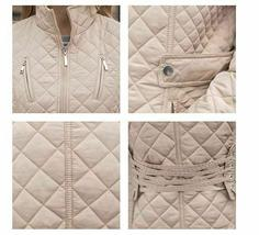 Ladies Long Quilted Jacket Outerwear Winter Coat  Medium image 6