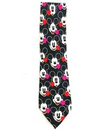 Disney Mickey Mouse Silk Tie  Mickey & Minnie Love Hearts Necktie Valeni... - $14.80