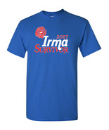 Hurricane IRMA Survivor 2017 Men's Tee Shirt RED CROSS DONATION 1682 - $8.87+
