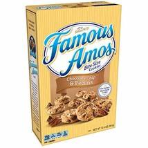 Famous Amos Cookies, Bite Size Chocolate Chip & Pecans, 12.4 oz Box - $18.50