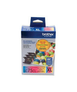 BROTHER INT L (SUPPLIES) LC753PKS 3PK LC753PKS CYAN MAGENTA YLW INK FOR ... - $77.87