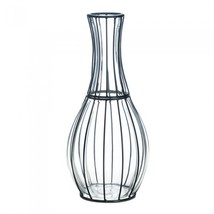 Tall Glass and Metal Vase - $46.00
