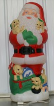 """Vintage Christmas 42"""" TPI Lighted Santa with Puppies Blow Mold Yard Deco... - $197.99"""