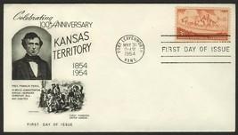 #1061 3c Kansas Territory, Fleetwood-Addressed FDC **ANY 4=FREE SHIPPING** - $1.00