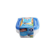 Fresh Guard Blue 8 Piece 350 ML Square Storage Containers - $5.89