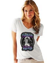 David Bowie Women T-shirt White V-Neck Tee Shirt Labyrinth Movie Fan Size XS-2XL - $12.67