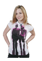 Famous Stars & Straps White Pink Mr. President Juniors Crew Tee T-Shirt image 1