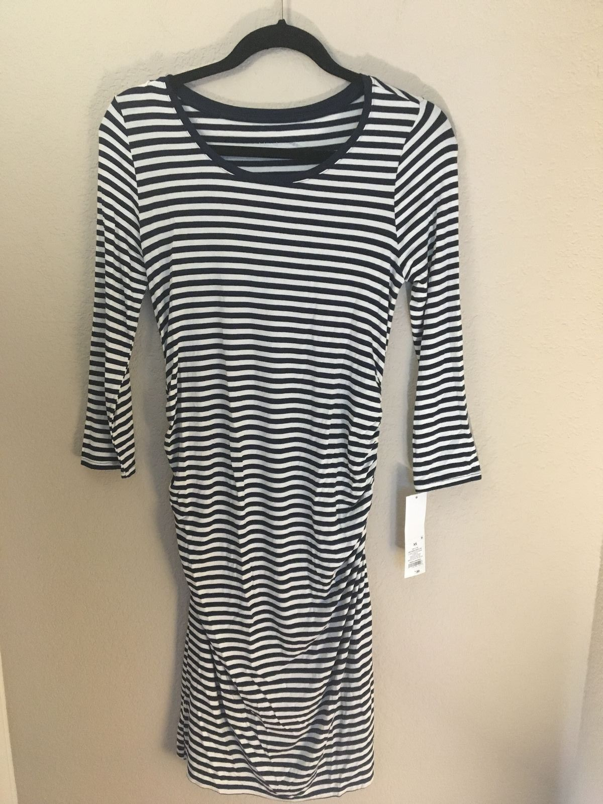 fb742a4542a06 Liz Lange Maternity Navy Ivory Striped Dress and 45 similar items. 57