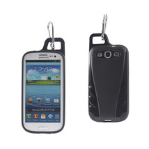REIKO SAMSUNG GALAXY S3 DROPPROOF WORKOUT HYBRID CASE WITH HOOK IN BLACK - $9.14