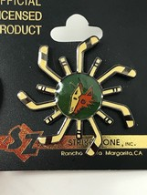 NHL Phoenix Arizona Coyotes VTG Logo Pin Sticks and Coyote New NOS Stick... - $11.83