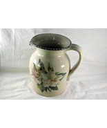 Home And Garden Party Magnolia 64 oz Stoneware Pitcher - $9.44