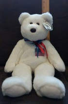Ty Beanie Buddy LIBERTY the Bear, White w/USA FLAG on Chest 2000, (whole... - $7.99