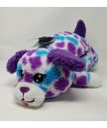 "Russ Hug-A-Pet 24"" Plush Purple & White Puppy - New - $24.99"