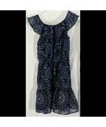 Blue Girls Summer Dress Floral Size 7 8 Childrens Place - $14.84