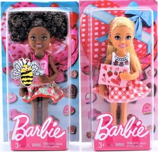 Set of 2 Mattel Valentine Barbie Chelsea Dolls African American & Blonde... - $13.09