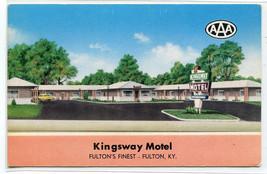 Kingsway Motel US 45 W Fulton Kentucky postcard - $6.44