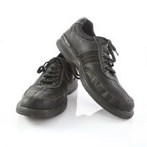 Clarks Black Leather Split Toe Fashion Sneakers Oxfords Shoes Mens 11.5 SN 13287 - $34.57