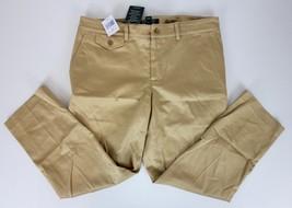 NWT Ralph Lauren Slimming Fit Cropped Pants Sz 6 Lt Wheat Tan Khaki Crops - $39.99