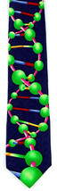 DNA Helix Men's Neck Tie Ralph Marlin Science Biology Classic Silk Blue Neck Tie image 1