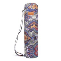 ELENTURE Canvas Yoga Sling Bag with Multi-Functional Storage Pockets Cel... - $17.75