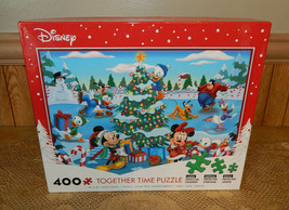 """Disney Together Time Puzzle 24"""" X 18"""" Mickey Mouse Donald Duck 3 Sizes O... - $25.46"""
