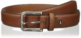 Tommy Hilfiger Men's Premium 35MM Leather Casual Belt Brown 11TL02X038