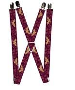DC Comics Wonder Woman Floral Collage Logo Suspenders - $13.99