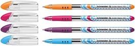 Schneider Slider XB Ballpoint Pen, Orange, Purple, Pink, Lt. Blue, Pack ... - $9.97