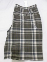NWT Mens Gap Plaid Blue Green Flat Front Shorts Size 42 - $19.99
