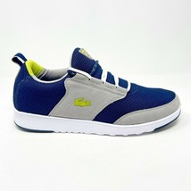 Lacoste Light-01 RC SPM Textile Blue Grey Neon Mens Casual Sneakers - $74.95
