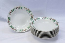 """Gibson Xmas Charm Soup Cereal Bowls 8"""" Set of 8 - $48.99"""