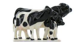 Hagen Renaker Miniature Holstein Bull, Cow and Calf Ceramic 3 Piece Figurine Set image 8