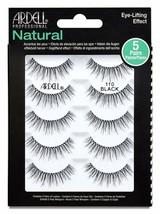 Ardell False Eyelashes Natural 110 Black 1 pack (5 pairs per pack) Pack of 5 - $11.87