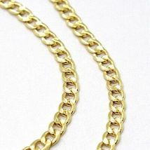 18K YELLOW GOLD GOURMETTE CUBAN CURB CHAIN 2 MM, 17.7 inches, NECKLACE image 3