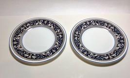 "Wedgwood Blue Florentine 2 Bread & Butter Plates 6"" W1956 - $12.85"