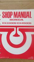OEM Honda Generator EX3300S / EX4500S Shop Manual  - $17.99