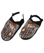 Halloween Bloody Horror--ZOMBIE FEET SHOE COVERS--Walking Dead Costume A... - $8.88