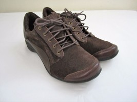 Hush Puppies KENDRA ALTERNATIVE Womens Brown Leather/Suede Oxfords HW05... - $34.64