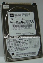"""Toshiba MK4025GAS HDD2190 40GB 2.5"""" IDE Hard Drive Tested Good Our Drives Work"""