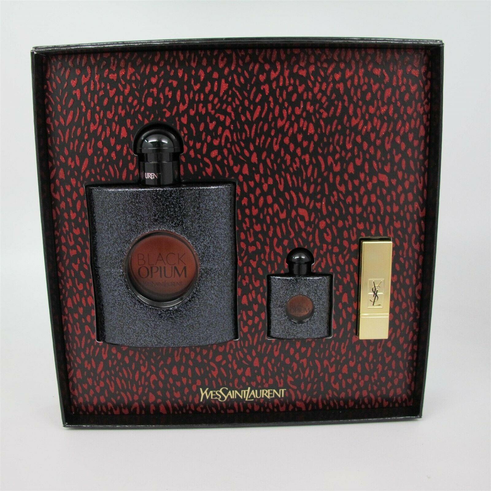 Aaaaaayves saint laurent black opium perfume3 pcs set