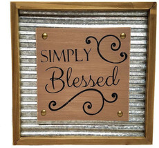 Rustic Inspirational Wall Decor Wood And Corrugated Metal, 11.75' (Simply - $71.81