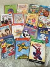 15 Kids Level 1 Reader Paperback Books Spiderman Splat The Cat Pooh Buil... - $26.61