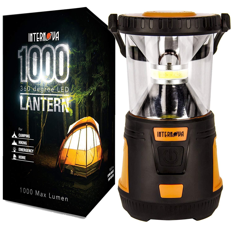 Internova 1000 LED Camping Lantern Fully Adjustable 360 Arc Lighting Valentines