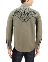 Men's Western Rodeo Style Cowboy Embroidered Tribal Print Dress Shirt image 12