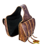 Hilason Western Horse Leather Saddle Bag Traditional Cowboy Trail Ride U... - $164.99