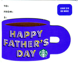 Starbucks 2020 Happy Father's Day Cup Collectible Gift Card New No Value - $2.99