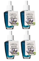 4 Bath & Body Works Bow Ties & Bourbon Wallflower Home Fragrance Refill ... - $28.99