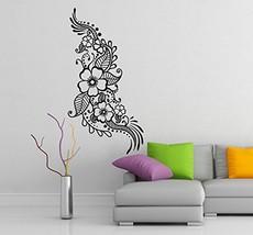 ( 28'' x 55'') Vinyl Wall Decal Henna Pattern with Flowers / Tattoo Desi... - $47.47